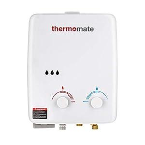 Calentador de Agua a Gas, thermomate AZ132 5L Ducha de Gas Propano Instantáneo, Intercambiador de Calor de Cobre Puro…