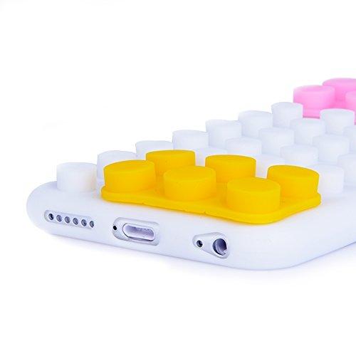 Phone case & Hülle Für IPhone 6 / 6S, Baustein-Beschaffenheit Silikon-Kasten ( Color : Green ) White