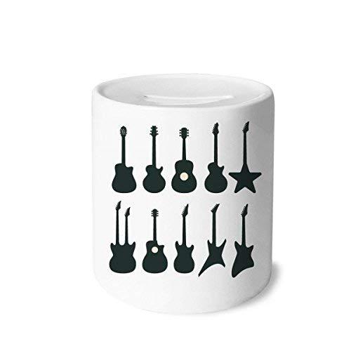 DIYthinker E-Gitarren-Musik Vitalität Sounds Spardose Sparkassen Keramik Münzfach Kinder Erwachsene 3.5 Zoll in Height, 3.1 Zoll in Duruchmesser Mehrfarbig