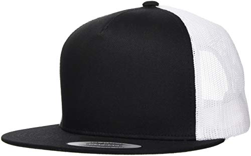 Flex Fit Trucker Cap (Flexfit Classic Trucker 2-Tone Cap, Blk/Wht, one Size)
