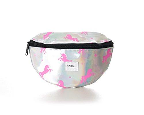 Spiral Silver-Pink Unicorns Bum Bag Riñonera Marcha