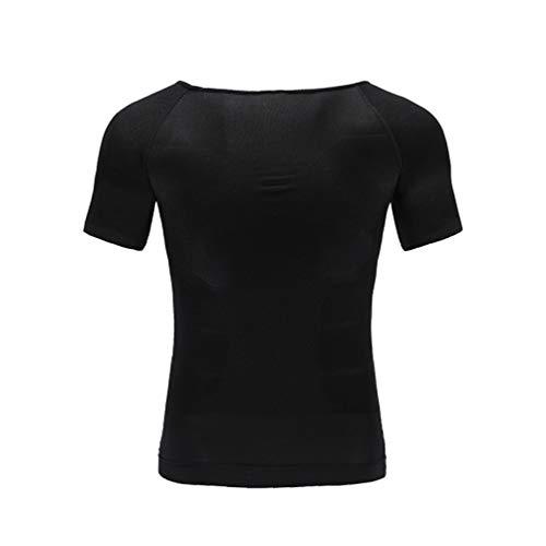 Herren Slim Body Shaper Körperhaltung Weste Bauch Bauch Tops Kompression Fat Burn Shirt Korsett