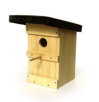 Preisvergleich Produktbild Starenkasten natur - Nistkasten aus Fichtenholz, Vogelkasten Fichte, Gartendekoration, Geschenkidee für Vogelliebhaber, Star Brutkasten, Vogelhäuschen
