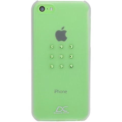Diamond Cover 305125 Peridot Star - Funda para Apple iPhone 5C, diseño con cristales Swarovski, color