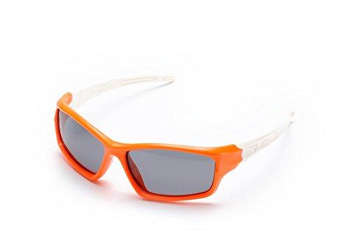 Vikenner Kind Sonnenbrille ekorative Brille ohne sehstärke Brille Lichtschutzbrille Arbeitsplatzbrille blaulichtfilter Coole Tarnung Polarisierte Brille fur Junge Mädchen Orange Rahmen