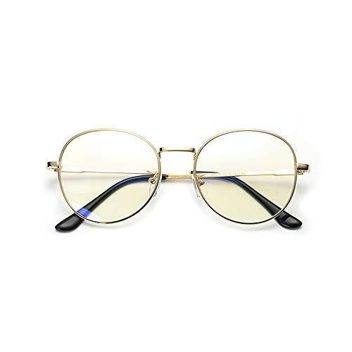 PC-Brille UV-Cut eckige Brille Unisex Blaulicht-Sonnenbrille für Brillen Brille (Color : Gold, Size : Kostenlos)