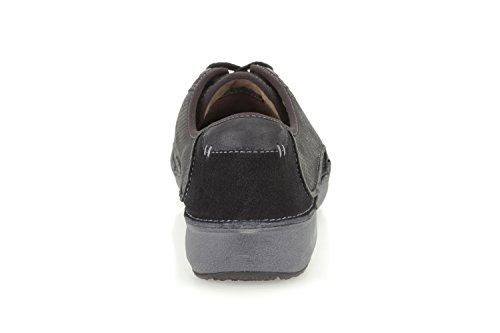 Clarks wave black drift leather ladies walking shoe Noir - Cuir noir