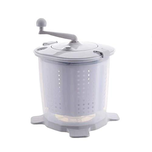 Yyqtxyj Mini-Handwaschmaschine, mechanisch Eingebauter Kerngriff Abnehmbarer Entwässerungskorb Machen Sie das Waschen schneller und bequemer. (Color : Gray)