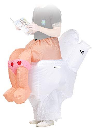 Playtastic Karnevalskostüme: Selbstaufblasendes Scherz- Kostüm Klo (Selbstaufblasendes Fasching-Kostüm)