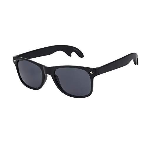 ASVP Shop Hochwertige Sonnenbrille Retro Vintage Unisex Brille für Männer und Frauen Schwarzer Flaschenöffner (WF29)