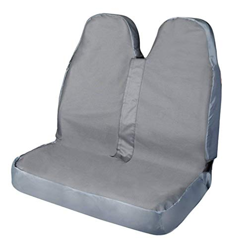 600d pvc coprisedili per auto leader international, coperture impermeabile sedile auto, custodia protettiva per animali domestici, antipolvere, anche per airbag singolo/ doppio (grigio, doppio)