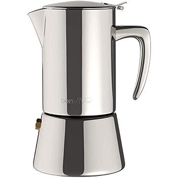 2 tasses BRA Bella Kaffeemaschine Edelstahl 18//10