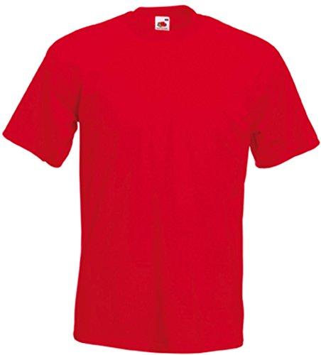 Fruit of the Loom Herren-Super-Premium-Kurzarm-T-Shirt L rot