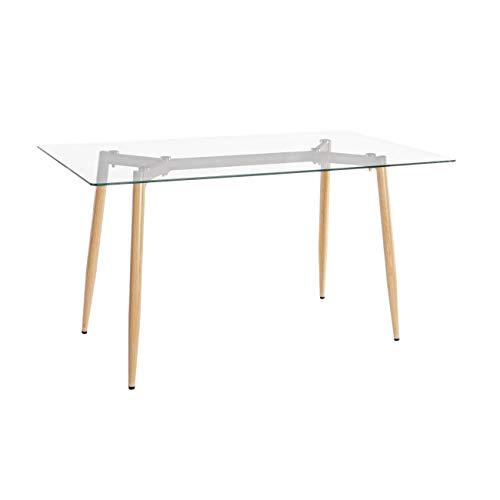 ARREDinITALY Table Design Plateau Verre Rectangulaire 140 x 80