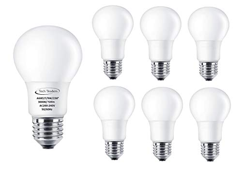 LED E27 Leuchtmittel Entspricht 90 W, A60, warmweiß 3000 K 9 W LED ES GLS Glühbirne, Deckenpaneele,, LED Leuchtmittel, energiesparend Leuchtmittel, Warm White 9W(3000K), e27 9.00 wattsW 240.0 voltsV -