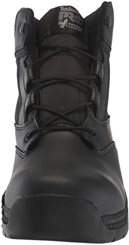 Timberland PRO Valor Duty 6  Soft Toe Military and Tactical Boot  Black Smooth Leather with d Ballistic Nylon  6 5 W US