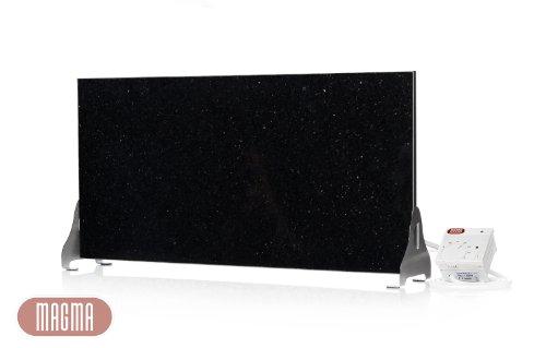 """Black-&-White-Aktion"" Magma Infrarotheizung 400Watt (Black Galaxy) Stand-Variante mit Steckdosenregler"