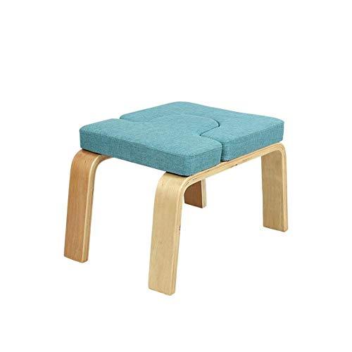 Roll yoga headstand bench- stand yoga chair for famiglia, palestra - cuscinetti in legno e tessuto - allevia la fatica e costruisci il corpo