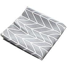 longyitrade - Servilletas de Lino y algodón, 40 x 60 cm, diseño Simple