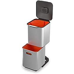 Unité de Séparation des Déchets et de Recyclage Joseph Joseph totem Compact 40 litres - Acier Inoxydable