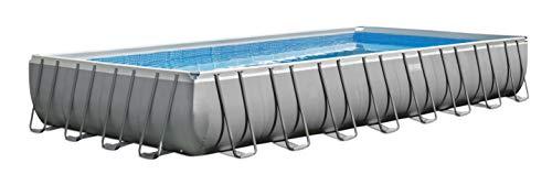 Intex Ultra Frame Rectangular Pool Set - Rechteckiger Aufstellpool - 732 x 366 x 132 cm - Zubehör enthalten