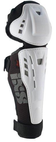 IXS Erwachsene Knee/Shin Guard Hammer, White, L, IX-PRT-8825