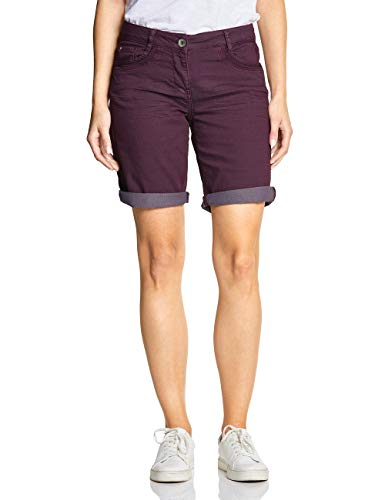 Cecil Damen 372198 New York Loose Fit Shorts, deep Berry, W27(Herstellergröße:27) -