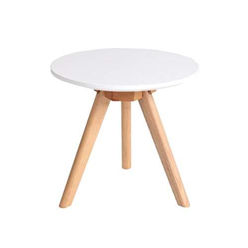 Tables CJC, MDF Panneau Chêne Jambes, Rond Canapé Côté Café Petit Fin Thé, Nidification Polyvalent (Couleur : Blanc, Taille : 40 * 40cm)