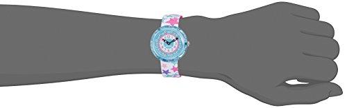 Flik Flak Mädchen Analog Quarz Uhr mit Stoff Armband FBNP081 - 4