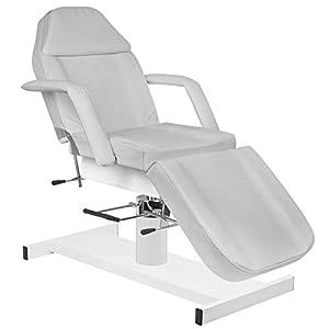 Activeshop Basic 210A Hydraulische Kosmetikliege Massageliege Massagetisch Massagestuhl Grau bis 200 kg belastbar Premium-PU-Leder 180 x 63 x 64-80 cm (L x W x H)
