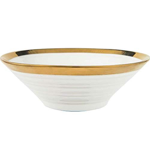 Canju Küchengeschirr/Geschirr/Outdoor/Camping Geschirr Kreative Große Keramik Suppe Ramen Schüssel Salat Suppe Müslischüssel Nudeln Topf Gemüsebecken Kompott Gewinde 8-Zoll - Kompott