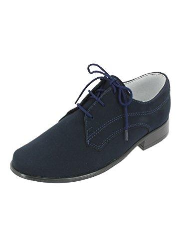 (Boutique-Magique Schuhe Zeremonie Hochzeit Abend Kinder Jungen Marine–Produkt Gespeichert und Verschickt Schnell Seit Frankreich, Blau - Marineblau - Größe: 36)