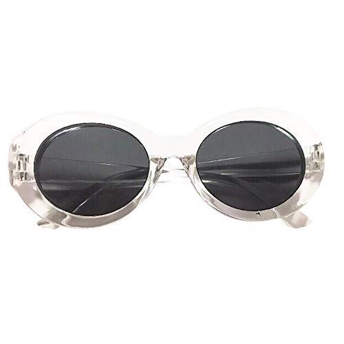 TW-Gläser TWISFER Clout Goggles Ovale Mod Retro Vintage Kurt Schutz Vintage Goggles für Damen Herren Inspiriert Sonnenbrille Runde Linse(C,One Size)