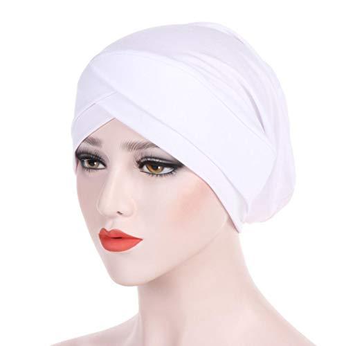 (Amphia Damen Muslim Ruffle Krebs Chemo Hut Beanie Schal Turban Kopf Wrap Cap)