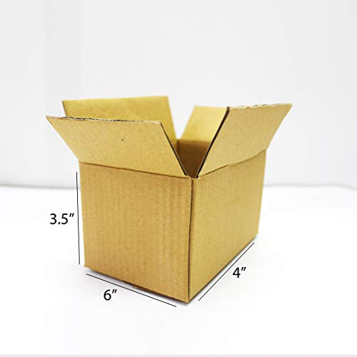 EZELLOHUB Brown Packaging Corrugated box 6 x 4 x 3.5 inch 3 Ply Pack of 50 Carton Box