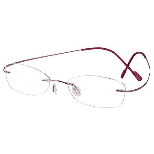 62d4d293d56 EyeBuyExpress Oval Pink Titanium Rimless Reading Glasses Magnification  Strength 0.75 by EyeBuyExpress