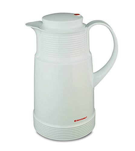 Rotpunkt Isolierkanne 320 1 Liter (Polar) | Doppelwandige Vakuumisolierung | Zweifunktions-Drehverschluss | BPA Frei- gesundes Trinken | Made in Germany | Warm + Kalthaltung | Glaseinsatz
