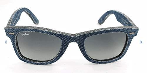 Ray Ban Unisex Sonnenbrille Wayfarer, Blau (Blue Denim/Grey Gradient), Medium (Herstellergröße: 50)
