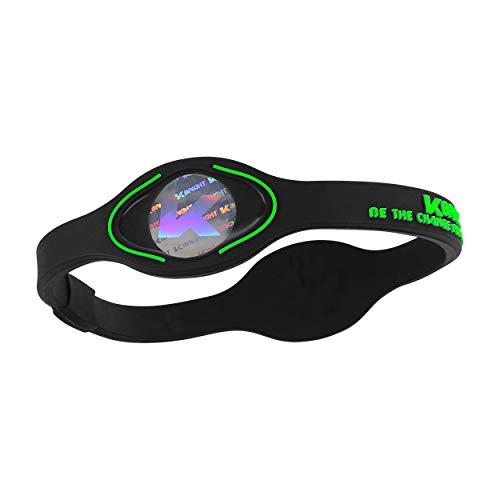 K-BRIGHT Power-Silikonarmband mit Hologram - Positive Ionen - umweltfreundliches und hautverträgliches Silikon - Energy, Balance and Motivation nachhaltige und Faire Lifestylemarke (Grün, M)