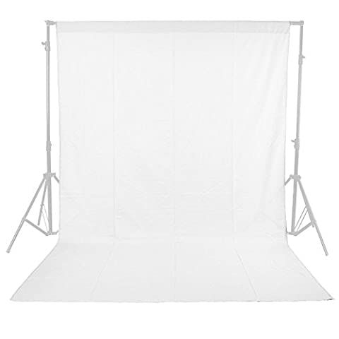 Phot-R 1.8m x 3m Photo Studio 100% Cotton Muslin Backdrop Background - White