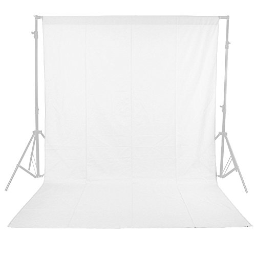 Phot-R P-C3X3WH 3 x 3 m Professional Photo Studio 100% Baumwolle Musselin Maschine Waschbar Hintergrund-Hintergrund Screen Fotografie Video weiß