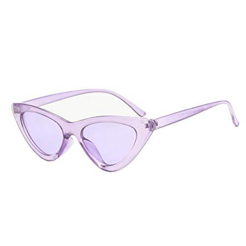 FGRYGF-eyewear Sport-Sonnenbrillen, Vintage Sonnenbrillen, NEW Cute Sexy Retro Cat Eye Sunglasses Women Black White Triangle Vintage Cheap Sun Glasses Female UV400 Purple