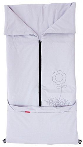ByBoom® - Sommer-Kinderwagen Fußsack 2in1; Universal Fußsack und Decke für Babyschale, Autokindersitz, z.B. für Maxi-Cosi, Römer, Buggy, Babybett; GRAU