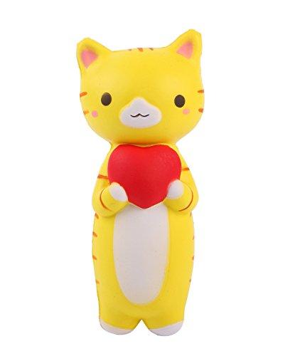 Preisvergleich Produktbild Fengke Gelbe Katze Cat kawaii Squishy jumbo matschig Stress Spielzeug Scented Soft Slow Steigende Hand Kissen Quetschen Spielzeug Geschenk 1PC Zufalls
