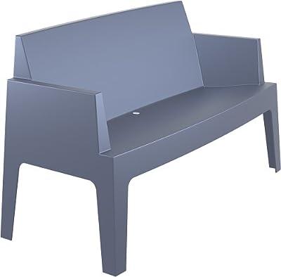 CLP 2er Design Kunststoff-Sofa BOX (aus bis zu 4 Farben wählen) stapelbar, wasserabweisend, UV-beständig, belastbar bis 200 kg von CLP