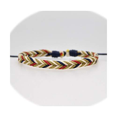 Aye, captain Vintage Seil-Charme-Armband für Frauen-Mann Brown justierbare Schnur-Armband-Schmucksachen, 22 -