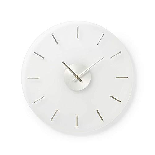 NEDIS CLWA005GL40 Kreisförmige Wanduhr | Durchmesser von 40 cm | Elegant | Glas