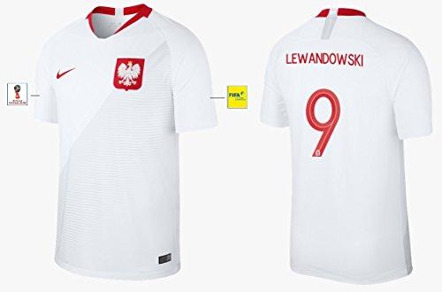 Trikot Herren Polen WM 2018 Home - Lewandowski 9 (M)