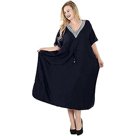 La Leela todo 1 damas rayón fiesta promoción cóctel la túnica más sencillo encubrir superiores batas traje baño cordón camisones cuello maxi noche largo caftán vestido mujeres profundidad