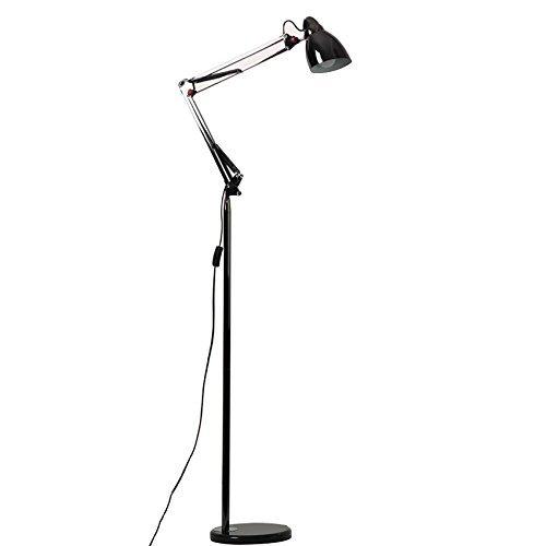 HYW Stehlampe Serie im europäischen Stil Führte Vertikale Eisen Stehlampe Moderne Minimalistische Kreative Amerikanische Fischerei Stehlampe Wohnzimmer Schlafzimmer Nacht Studie Stehlampe (Farbe Opti (Opti-bereich)